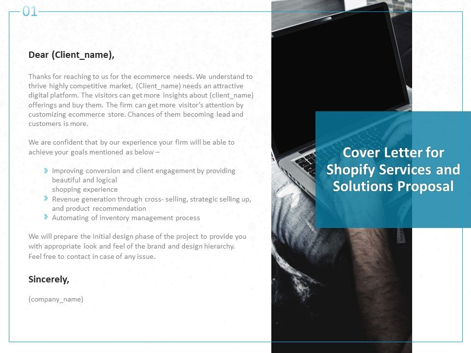 Cover Letter For Shopify Services And Solutions Proposal Ppt ...