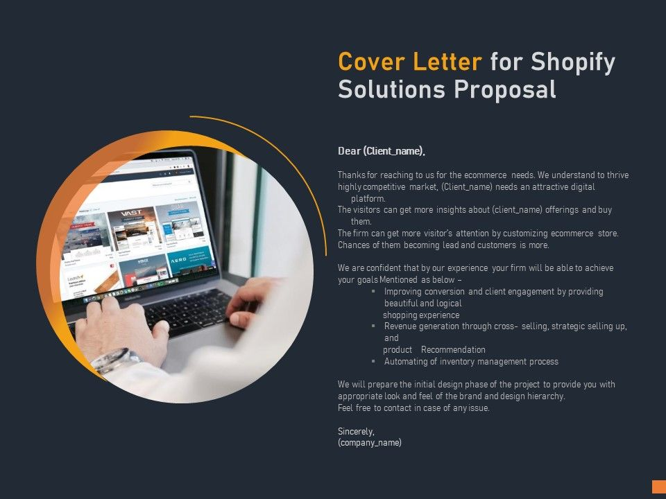Cover Letter For Shopify Solutions Proposal C1126 Ppt ...
