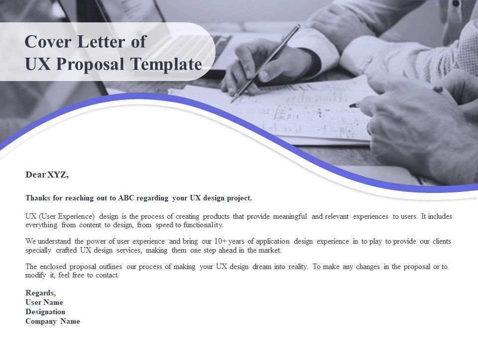 Cover Letter Of Ux Proposal Template Ppt Powerpoint Presentation Shapes Powerpoint Slide Images Ppt Design Templates Presentation Visual Aids
