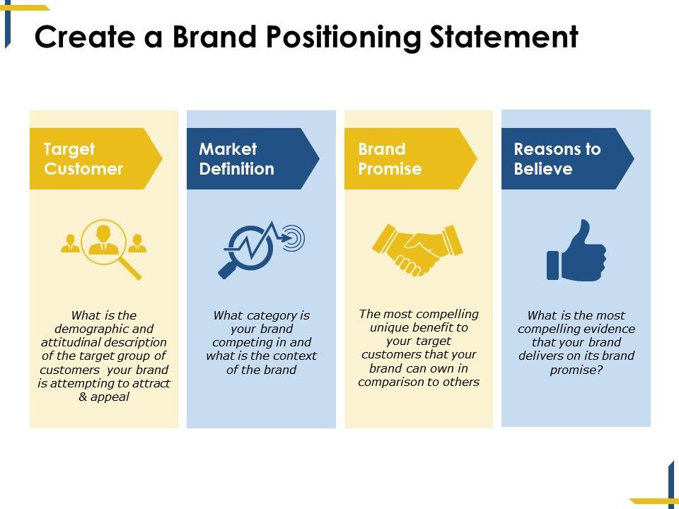 Create A Brand Positioning Statement Ppt Diagrams Powerpoint