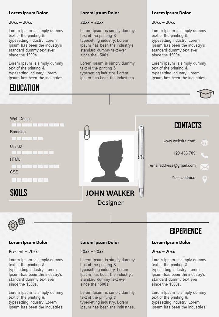 Creative Designer Resume Template To Get Noticed