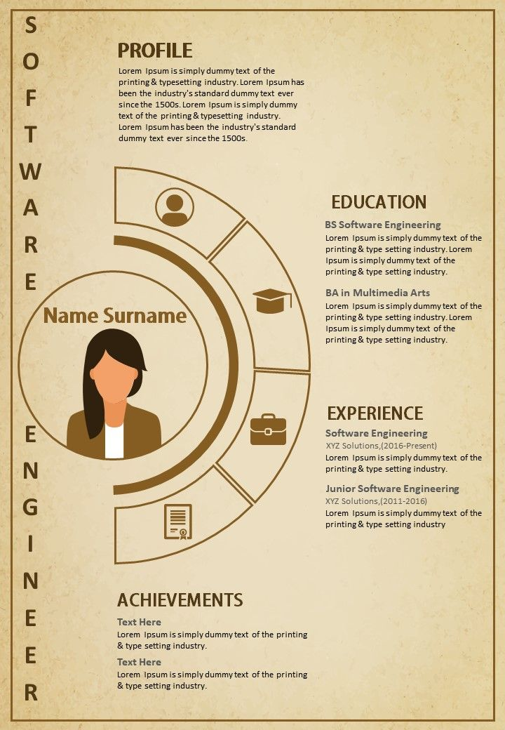 Creative Resume Template A4 Size 2 Pages Infographic Cv For Engineers Marketers Templates Powerpoint Presentation Slides Template Ppt Slides Presentation Graphics