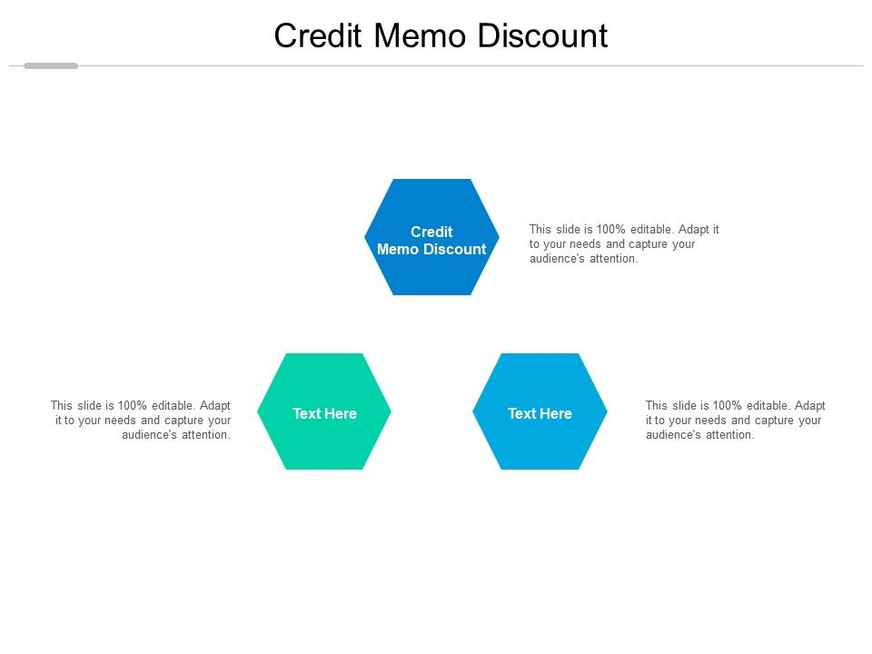 Credit Memo Discount Ppt Powerpoint Presentation Diagram Lists Cpb