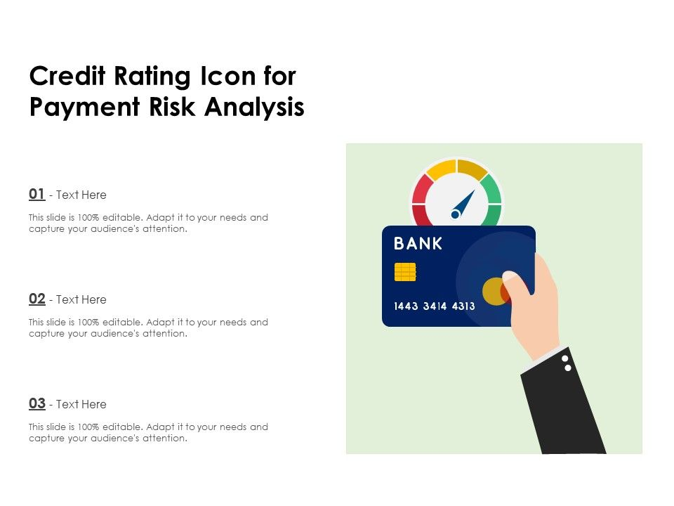 Credit Rating Icon For Payment Risk Analysis