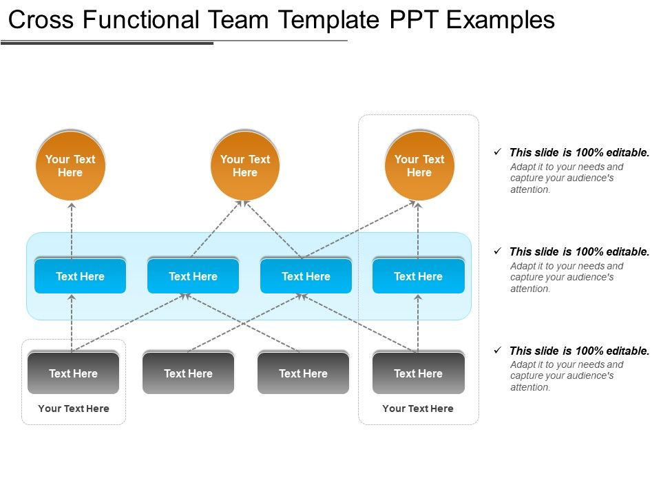 cross functional team template ppt examples powerpoint design