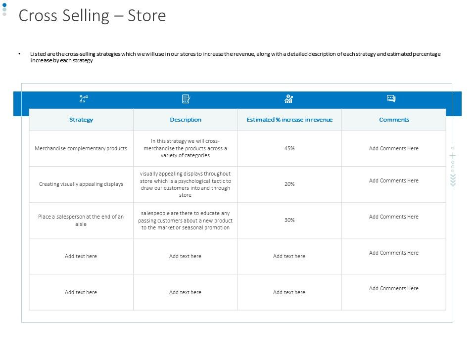 Cross Selling Store Ppt Powerpoint Presentation Summary File Formats