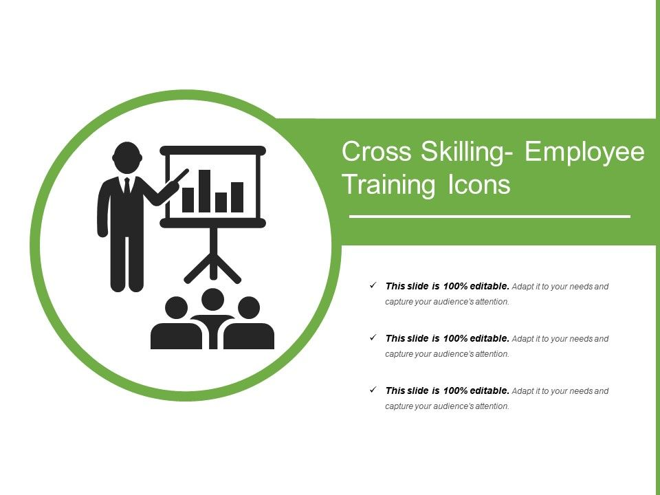 cross skilling employee training icons presentation powerpoint