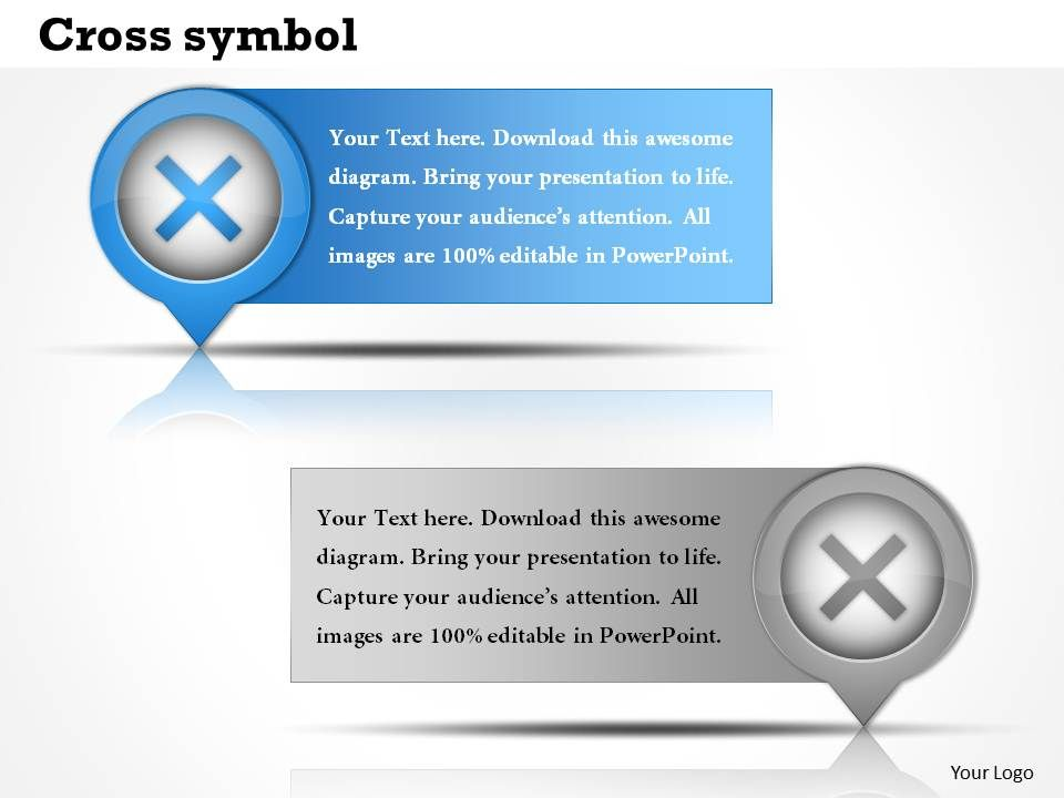 Cross Symbol Powerpoint Template Slide Presentation Powerpoint