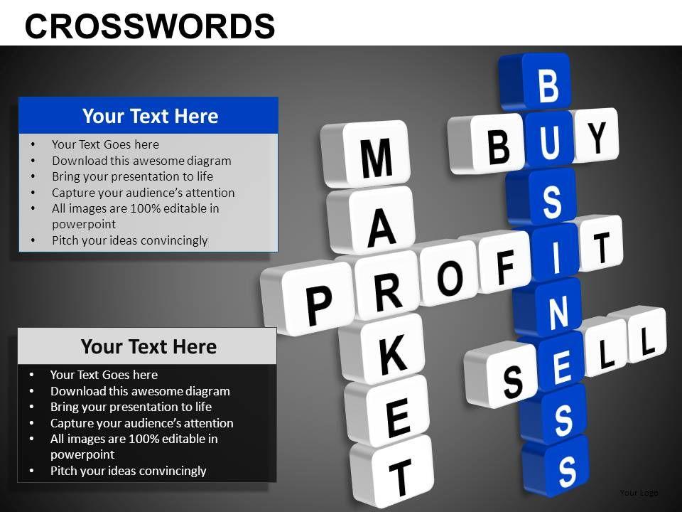 Crosswords Powerpoint Presentation Slides Db Powerpoint Shapes Powerpoint Slide Deck Template Presentation Visual Aids Slide Ppt