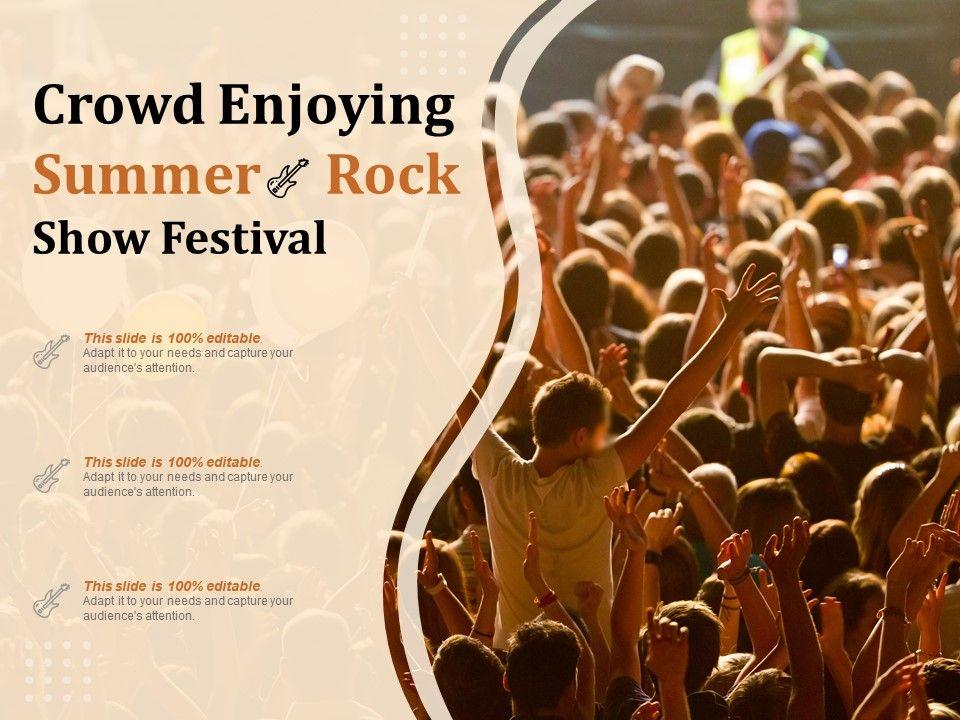 Crowd Enjoying Summer Rock Show Festival