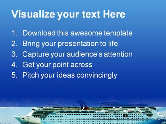 Cruise Ship Holidays PowerPoint Backgrounds And Templates 1210  Presentation Themes and Graphics Slide02