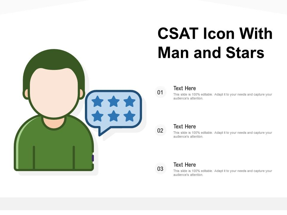 CSAT Icon With Man And Stars