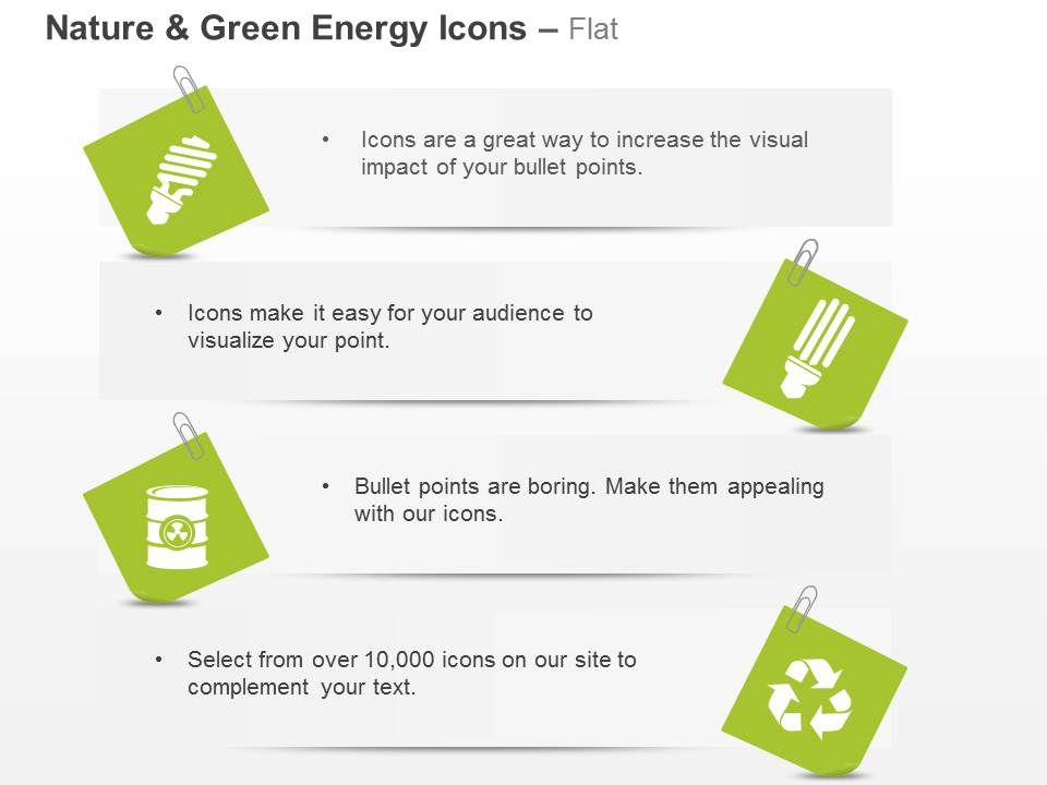 Ct Green Energy Icons Cfl Recycle And Waste Management Ppt Icons – Waste Management Ppt