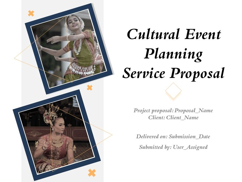 Cultural Event Planning Service Proposal Powerpoint Presentation Slides