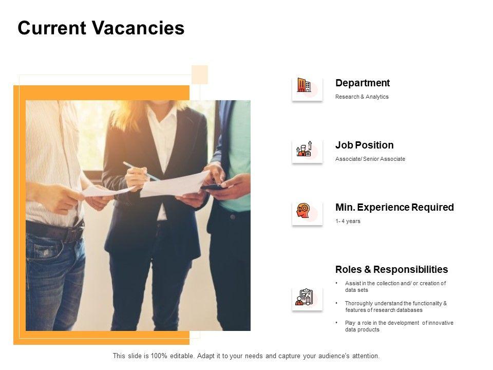 Current Vacancies Department Ppt Powerpoint Presentation Slides Graphics Tutorials