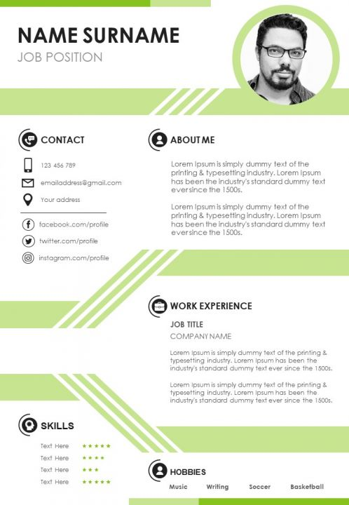 Curriculum Vitae Format With Job Position
