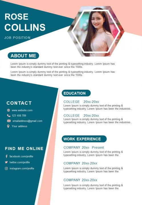Curriculum Vitae Sample Template With Education And Experience
