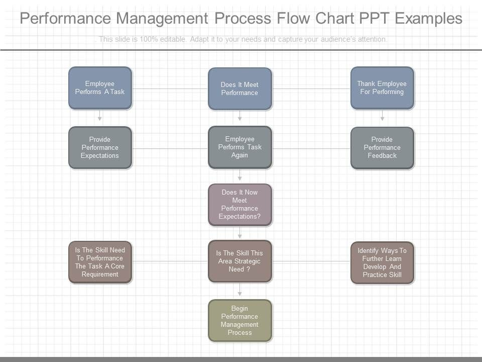 Custom Performance Management Process Flow Chart Ppt Examples Slide01