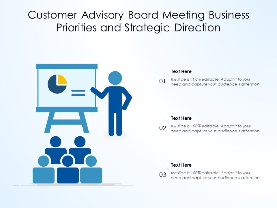 Customer Advisory Board Meeting Business Priorities And Strategic Direction