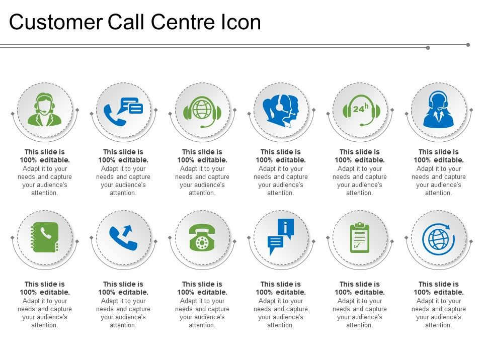 Customer Call Centre Icon Powerpoint Templates   PowerPoint