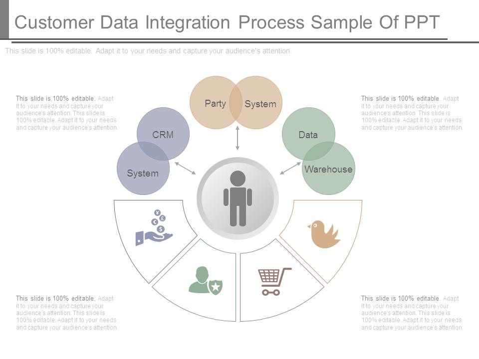 customer data integration process sample of ppt powerpoint design