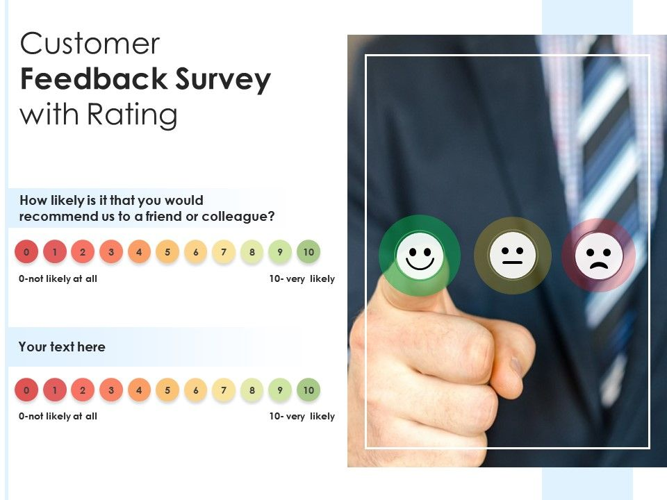 Customer Feedback Survey With Rating