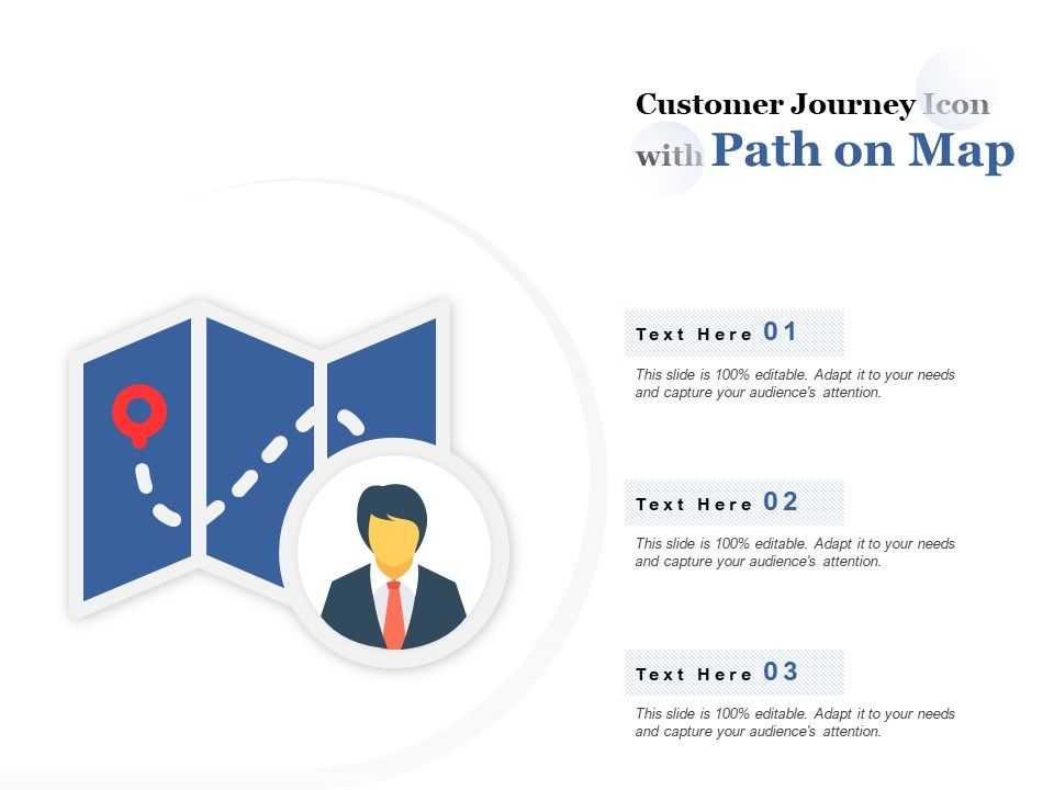 Customer Journey Icon With Path On Map