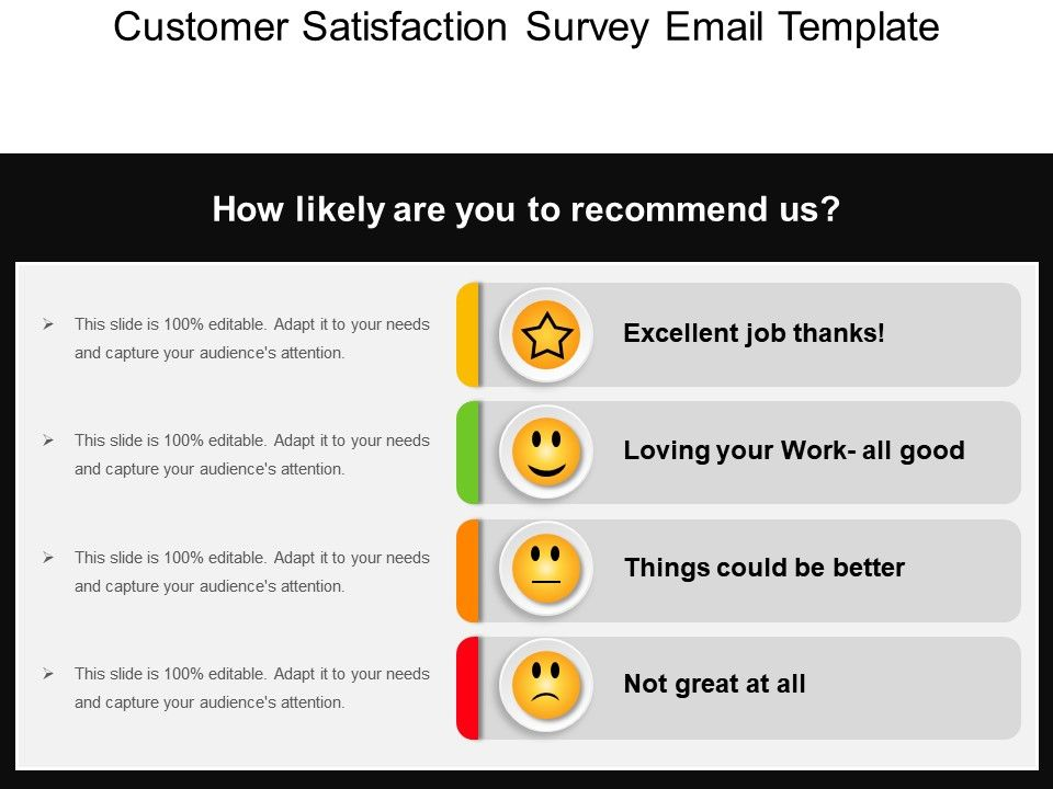 Customer satisfaction survey email template ppt slide for Customer survey email template