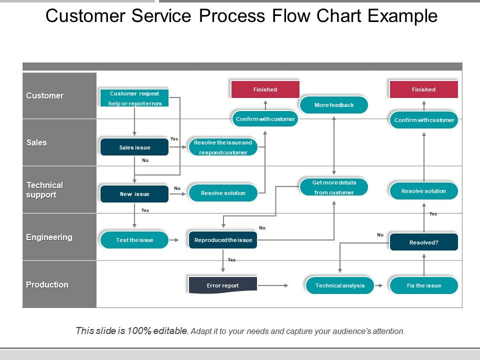 Customer Service Process Flow Chart Example Presentation Diagrams Template Presentation Sample Of Ppt Presentation Presentation Background Images