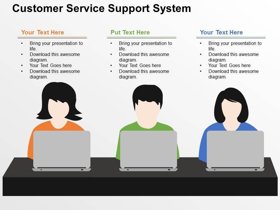 customer_service_support_system_flat_powerpoint_design_Slide01