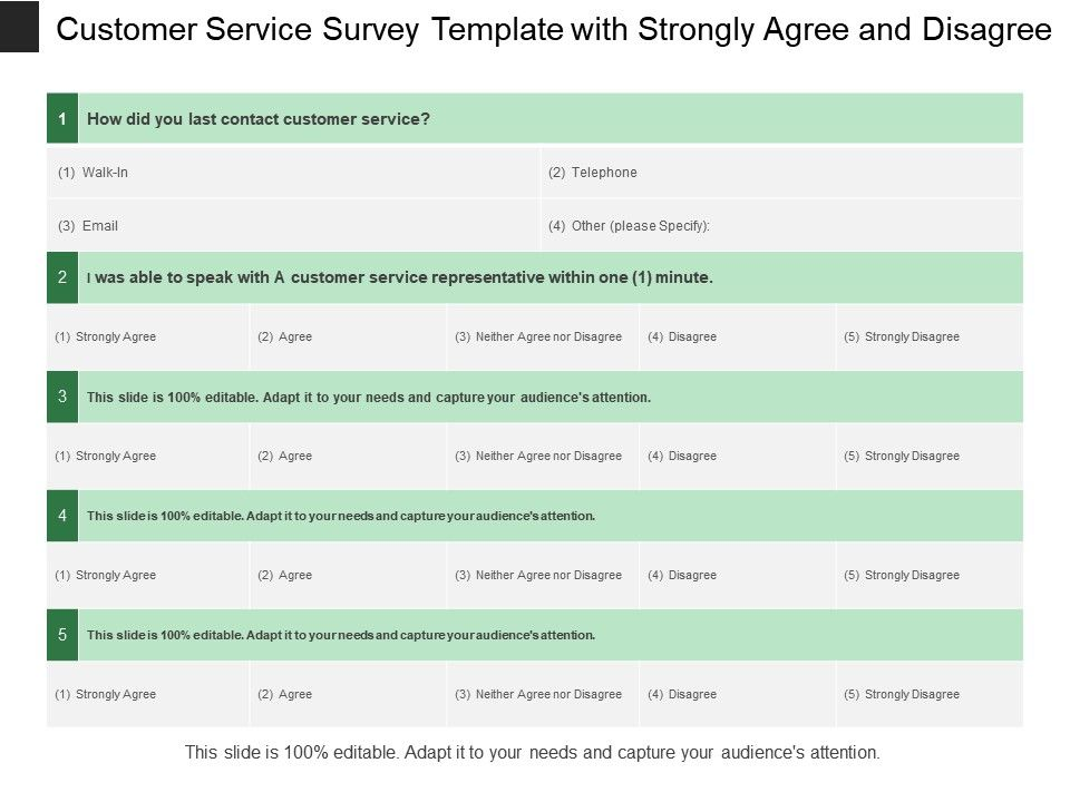 customer_service_survey_template_with_strongly_agree_and_disagree_Slide01
