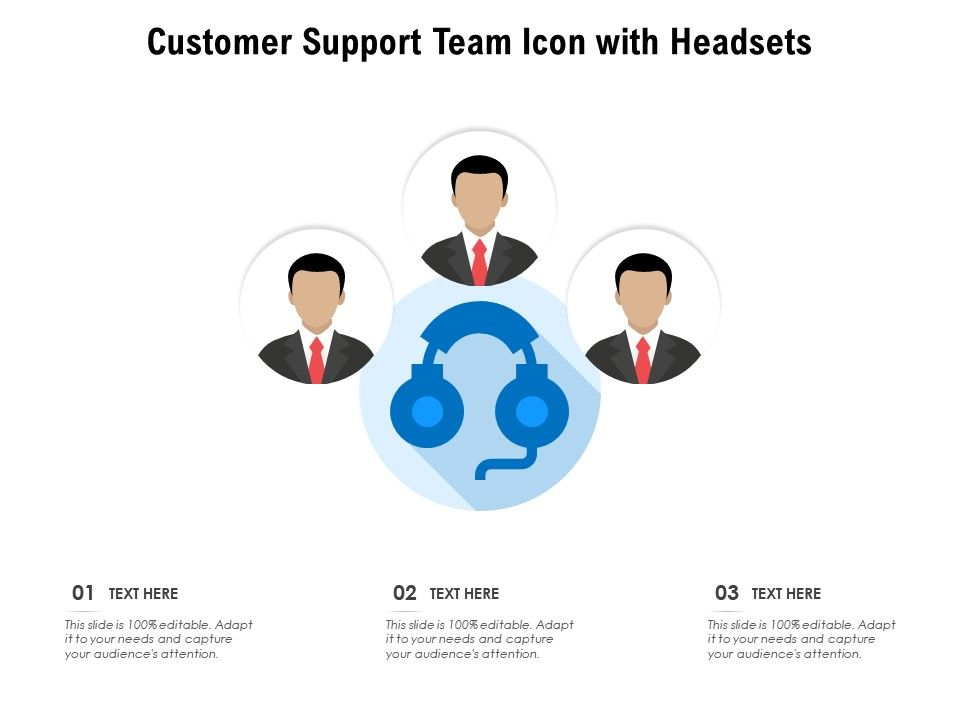 Customer Support Team Icon With Headsets
