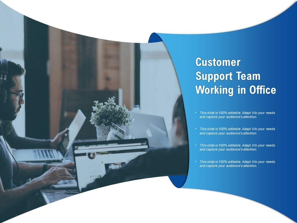Customer Support Team Working In Office