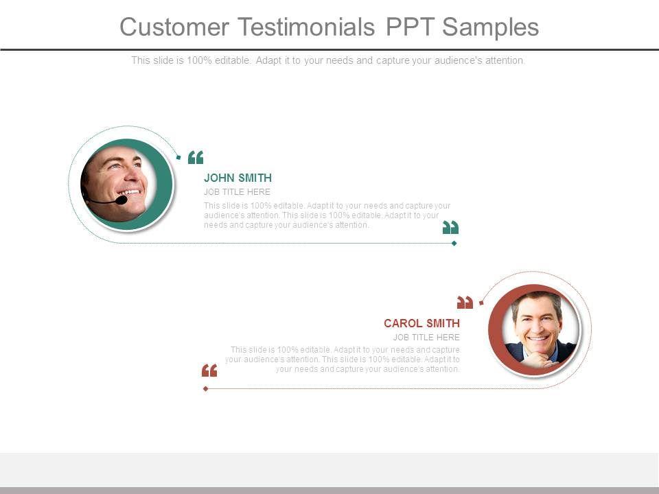 customer testimonials ppt samples presentation powerpoint