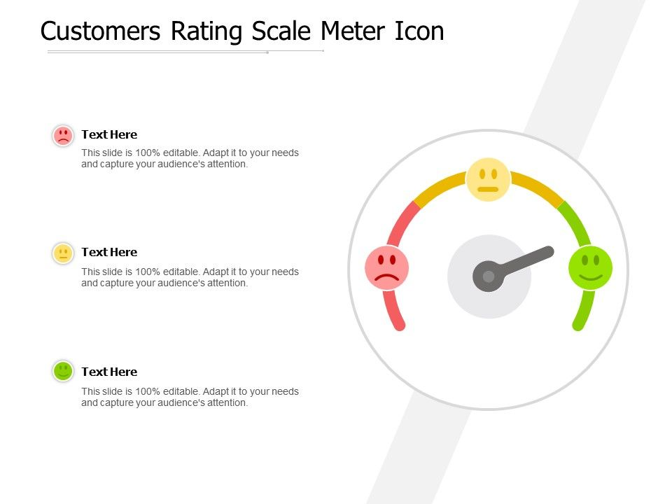 Customers Rating Scale Meter Icon