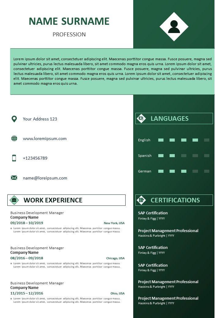 Experience Cv Format from www.slideteam.net