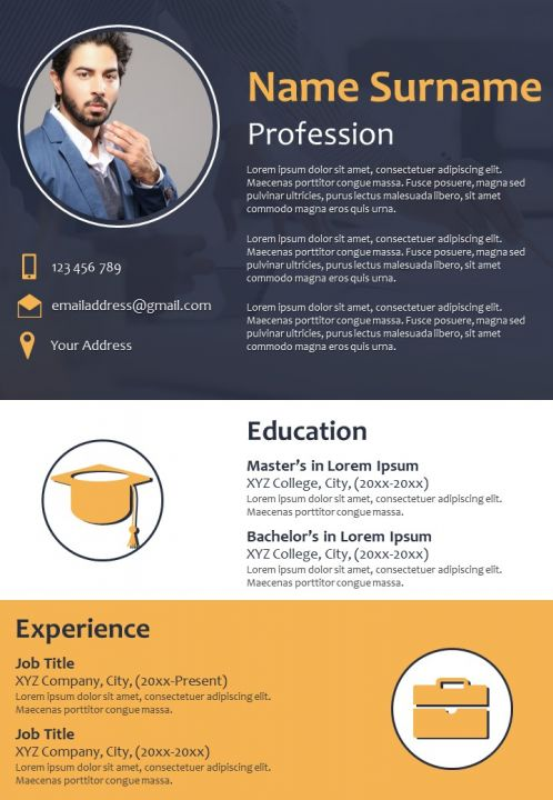 CV Sample Format With Experience Skills And Awards
