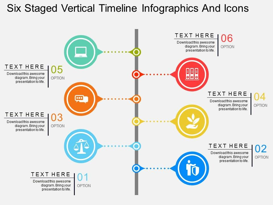 cw_six_staged_vertical_timeline_infographics_and_icons_flat_powerpoint_design_Slide01