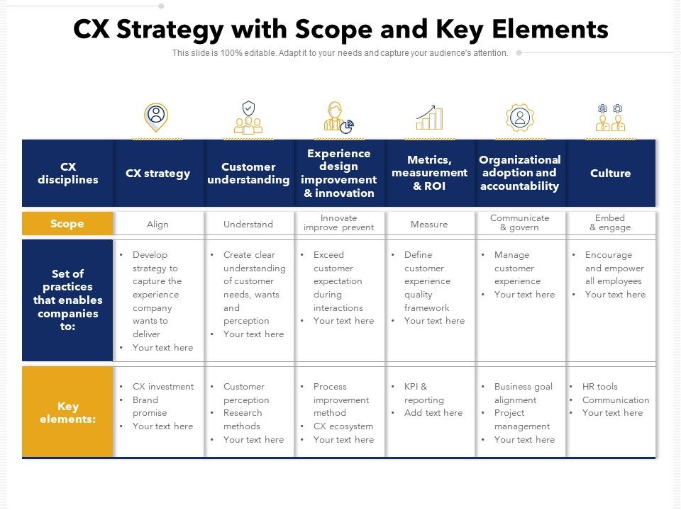 CX Strategy With Scope And Key Elements