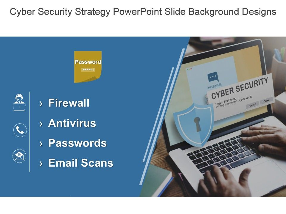 cyber security strategy powerpoint slide background designs, Powerpoint templates