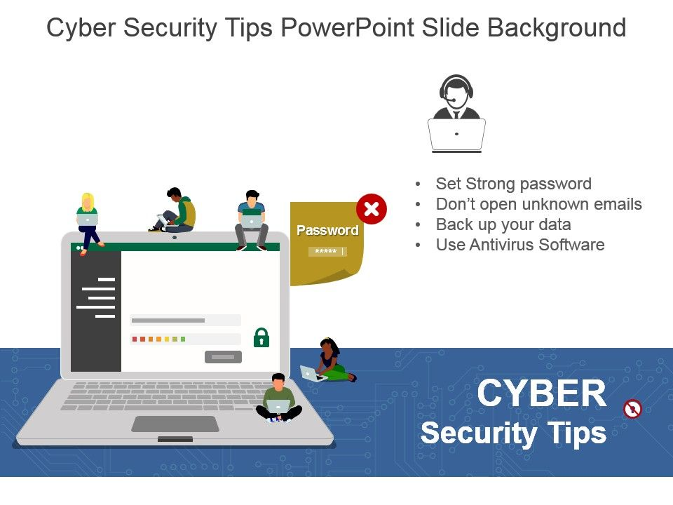 Cyber Security Tips Powerpoint Slide Background | Graphics