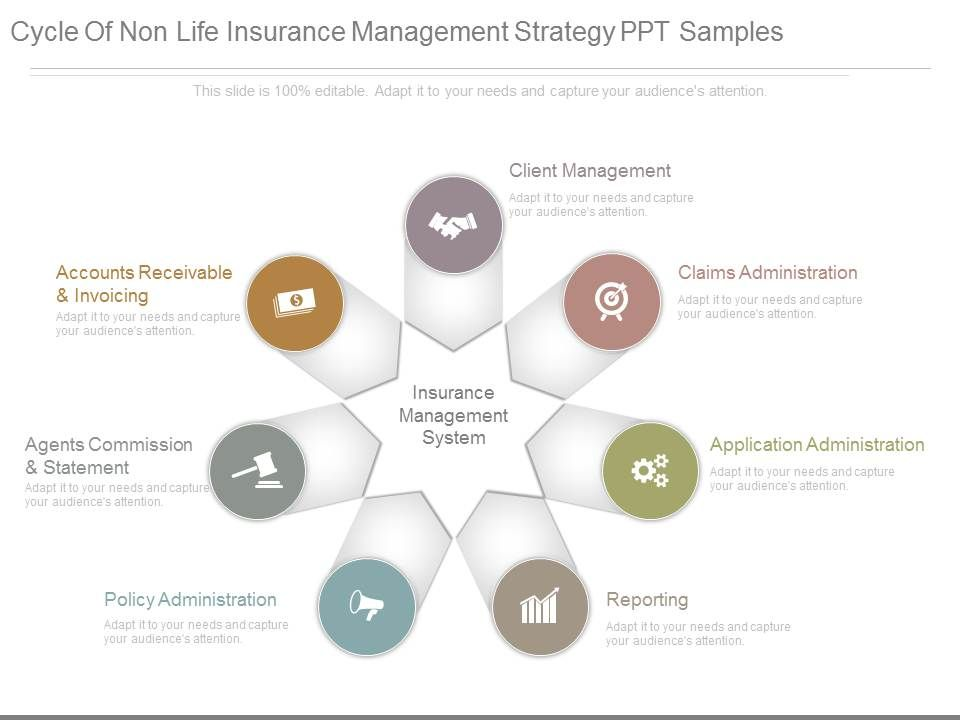 cycle_of_non_life_insurance_management_strategy_ppt_samples_Slide01 cycle of non life insurance management strategy ppt samples ppt