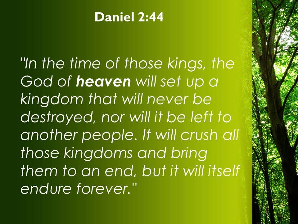 Daniel 2 44 The God of heaven will set up PowerPoint Church
