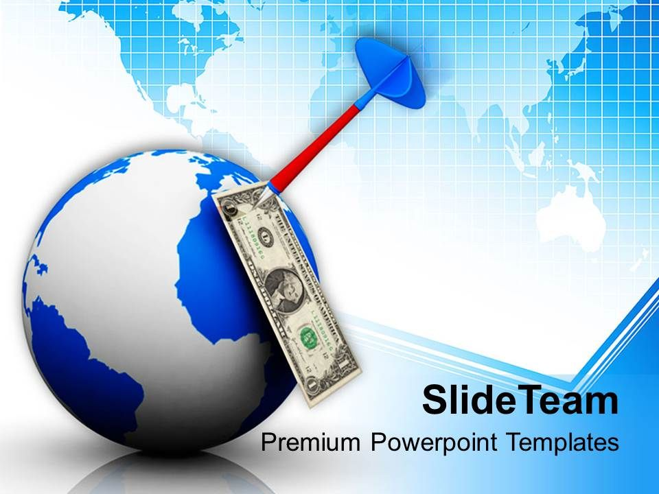 dart_hitting_dollar_note_on_globe_business_powerpoint_templates_ppt_themes_and_graphics_0113_Slide01