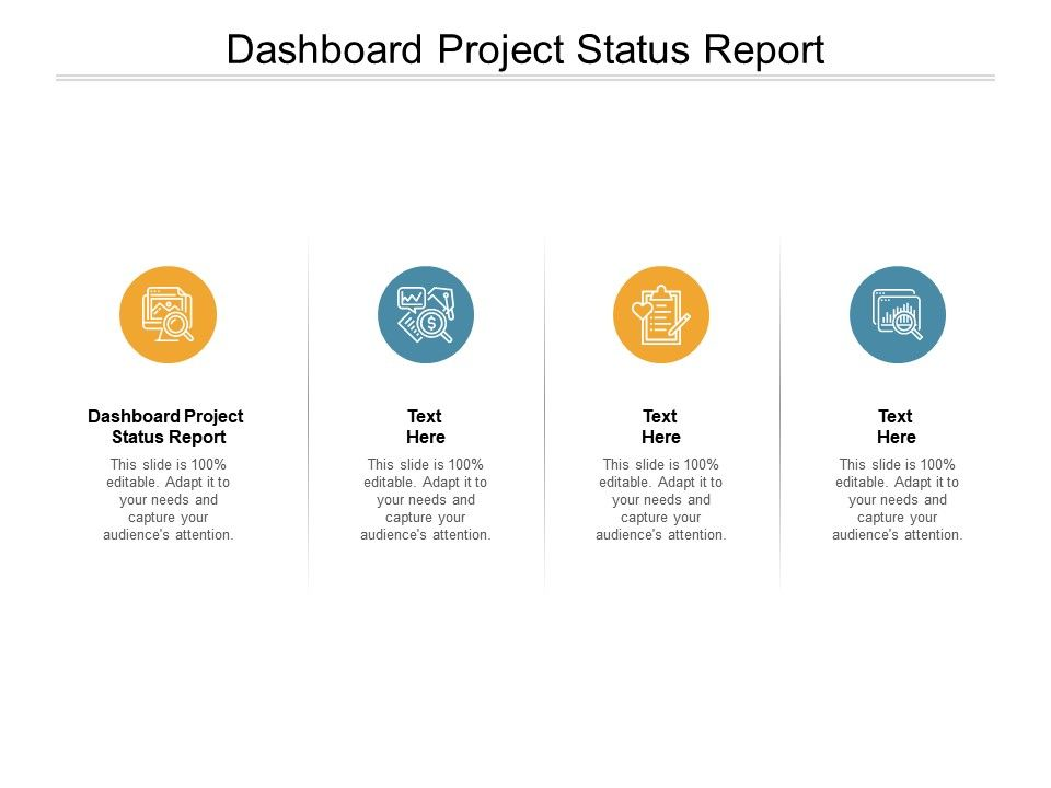 Dashboard Project Status Report Ppt Powerpoint Presentation Slides Aids Cpb