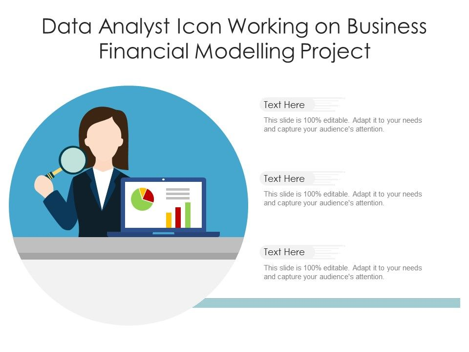 Data Analyst Icon Working On Business Financial Modelling Project