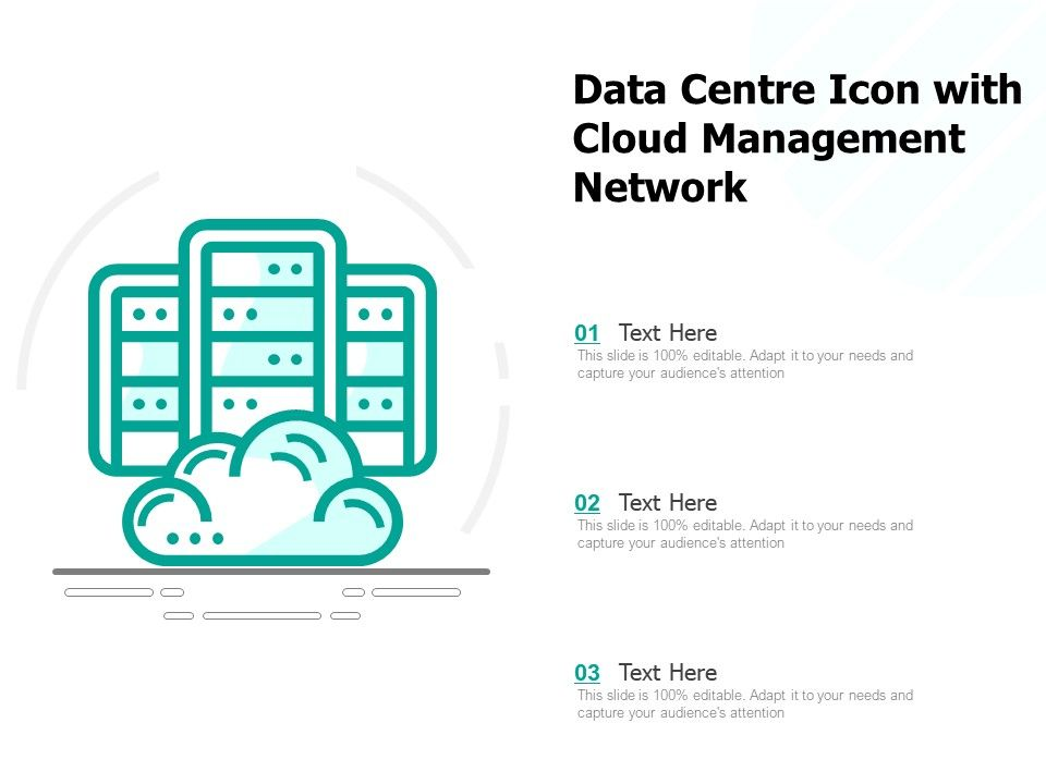 Data Centre Icon With Cloud Management Network