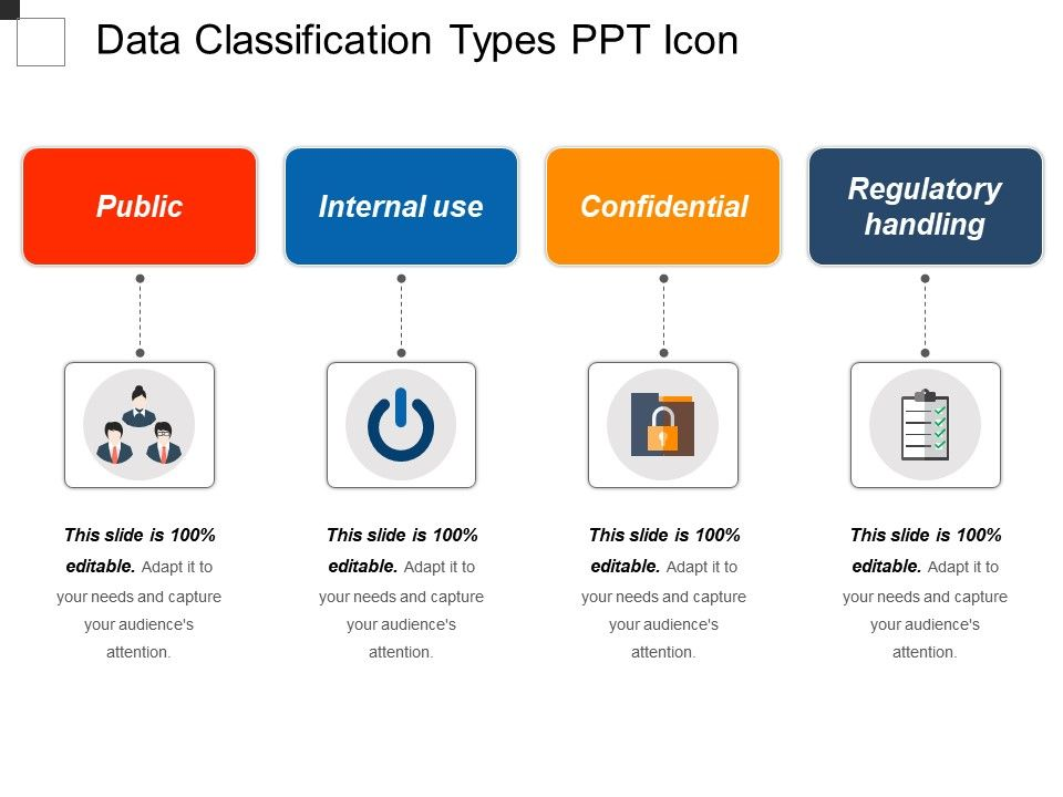 Data classification steps template ppt example file | templates.