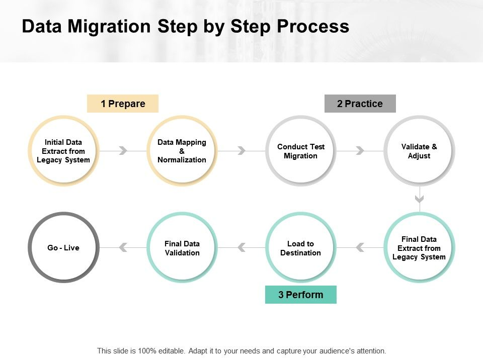 Data Migration Step By Step Process Initial Data Ppt Powerpoint