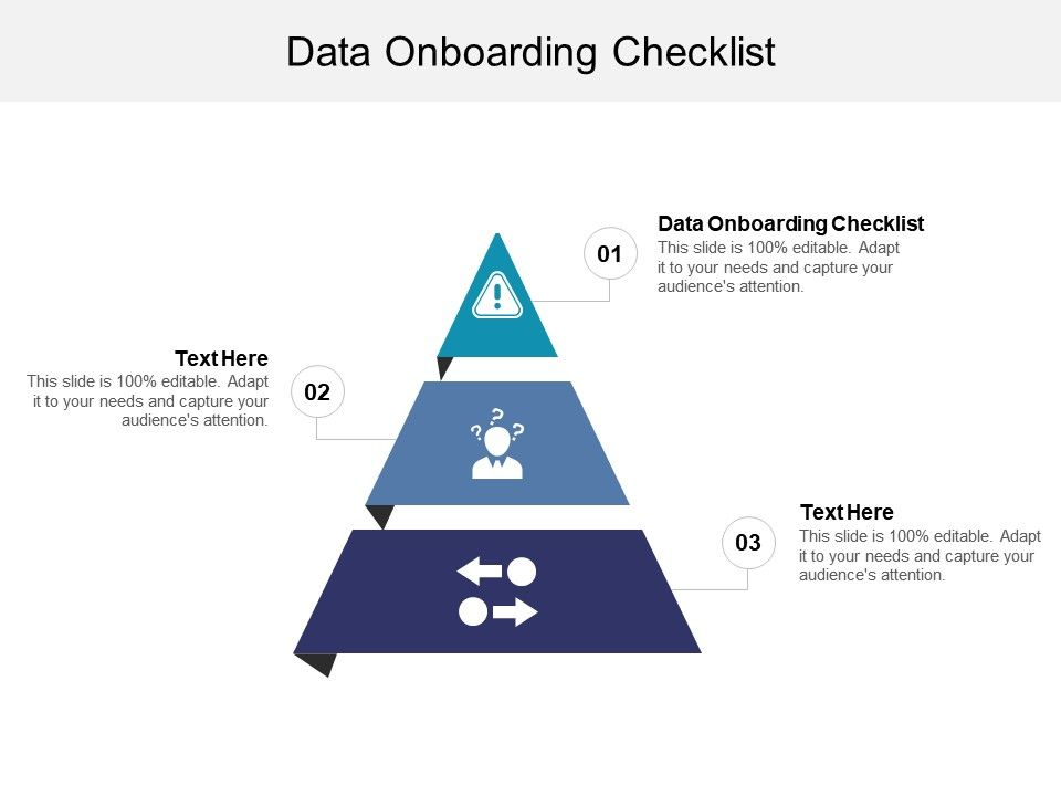 Data Onboarding Checklist Ppt Powerpoint Presentation Slides Example Cpb